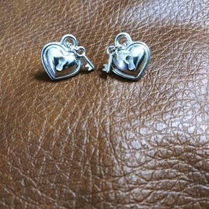 *RARE* Tiffany & Co. Heart Padlock Earrings